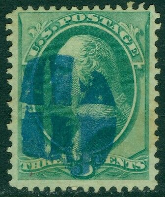 USA : 1870. Scott #136 Very Fine, Used. Blue cancel. Fresh. Catalog $37.00.