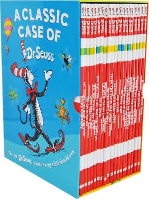 A Classic Case of Dr. Seuss 20 Book Collection Fox in Socks, The Cat in the Hat