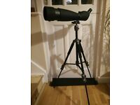 BRESSER 25-75 x 90 45degree spotting scope with tripod and bag