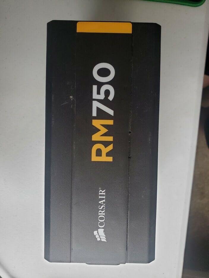 Corsair RM750 80 Plus Gold Certified 750 Watt Power Supply No Power Cord - $45.00