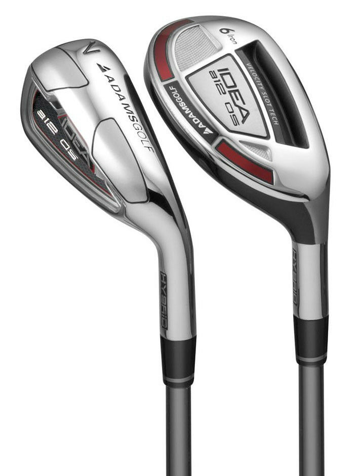 Adams A12 Oversize Graphite Irons/Hybrids Set (Brand New) RRP £500 with Free Balls