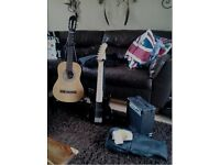 **ACOUSTIC AND ELECTRIC GUITAR HALF SIZE**