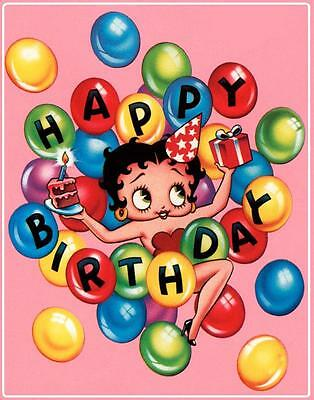 Betty Boop # 12 - 8 x 10 Tee Shirt Iron On Transfer Happy Birthday](Betty Boop Happy Birthday)