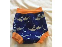 Swim Nappy / Pants - Orange Blue Shark