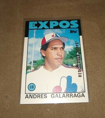 2017 ANDRES GALARRAGA TOPPS (1986) REDISCOVER TOPPS BRONZE #40T (EXPOS) BUYBACK Topps Bronze Card