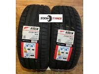 2 X TYRES RIKEN 215 50 17 W RATED 95 MADE BY MICHELIN TYRES EXTRA LOAD XL
