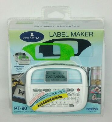 Brother P-touch Pt-90 Personal Label Maker New In Sealed Package