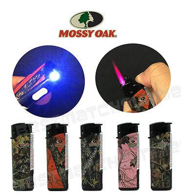Windproof Butane Jet Lighter - 5 Pack Mossy Oak Jet Flame Butane Torch Lighter Refillable Windproof White LED