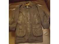 Barbour Border Wax Jacket - C38 - Navy - Inc Hood and Pile Liner