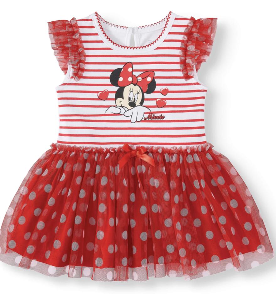 Minnie Mouse Baby Girl Dress / Tutu w/ Bodysuit Red Disney N