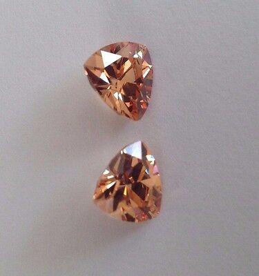 Trillion Cut  Champagne Cubic Zirconia Loose Stones 6,8, 10m