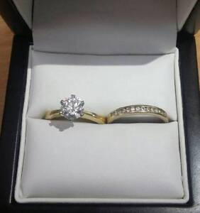 Stunning 1.28ct diamond and yellow gold bridal set Mango Hill Pine Rivers Area Preview
