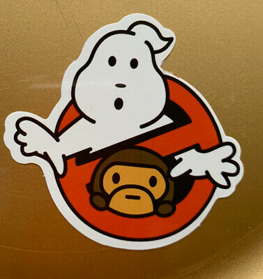 "A Bathing Ape Bape 3"" Vinyl STICKER Skateboard Car Bumper Supreme Ghostbusters"