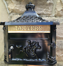 LETTER BOX Mail Post Box Wall Mounted Cast ALUMINIUM Traditional Victorian BLACK