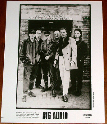 Rare Big Audio 8x10 B&W Press Photo Columbia Records 1994 Mick Jones