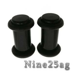 PAIR-BLACK-4G-5MM-PLUGS-1-2-INCH-WITH-O-RINGS