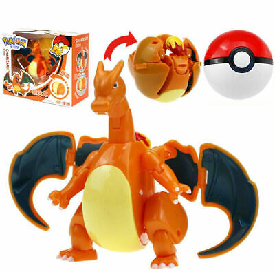 Pokemon Monster Dracaufeu Charizard Poke Ball Transformation Action Figures Toy