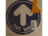 12 pack one way social distancing floor stickers