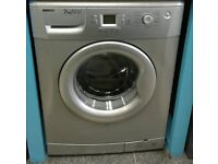 i160 silver beko 7kg 1400spin A*A rated washing machine comes with warranty can be delivered