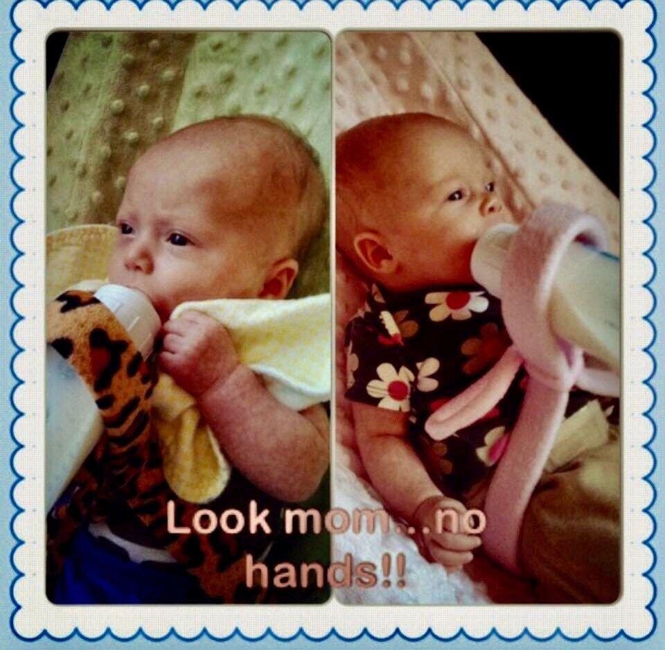 Baby Bottle Holder, Hands Free Feeding, Twins, Triplets, Mul