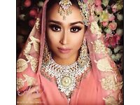 Professional Asian Bridal Hair & Makeup Artist for all Occasion. Available within 40 mile radius