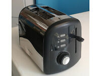 Stainless steel & black breville 2 slice electric toaster comes with warranty