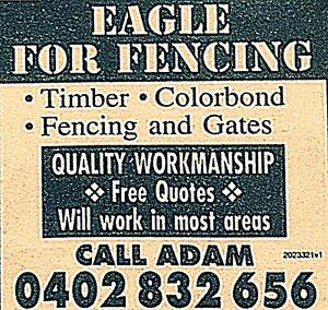 EAGLE FOR FENCING Thomastown Whittlesea Area Preview