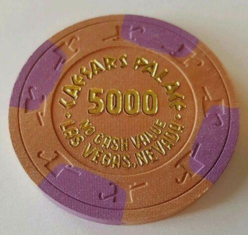 $5000 Las Vegas Caesars Palace NCV Casino Chip - Near Mint