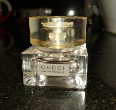 Vintage GUCCI EAU DE PARFUM II .17 oz Perfume Mini almost full
