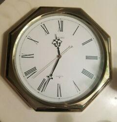 11 SEIKO Wall Clock * Silver * Analog Display * Octogon * Modern