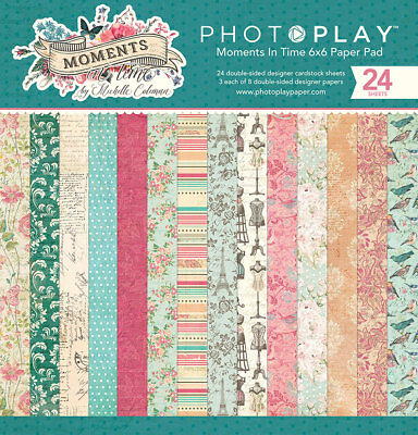 Scrapbooking Crafts 6X6 Paper Pad Moments in Time Antique Vintage Flowers - 6x6 Paper Pad Scrapbooking