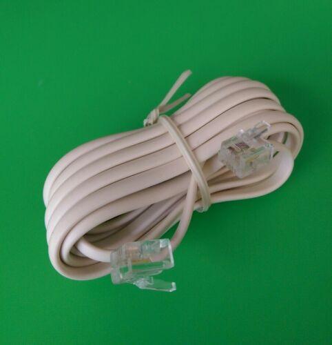 как выглядит Шнур, разъем или штекер (1 PC) 15 FT. RJ11 modular 6P4C 4wire Phone Line Flat Cord - Ivory фото