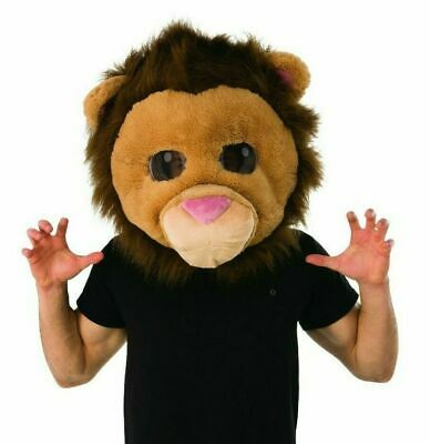 Adult Lion King Of The Jungle Animal Mascot Halloween Costume Mask NEW - Adult Lion Costume