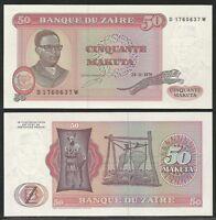Zaire - 50 Makuta 24.11.1979 Pick 17a Unc -  - ebay.it