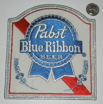 VINTAGE PABST BLUE RIBBON BEER BREWING BREWERY PATCH **LARGE**