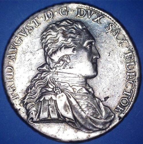 RARE ORIGINAL 1794 SACHSEN / SAXONY I.E.C. THALER SILVER CROWN SIZE - *70396531