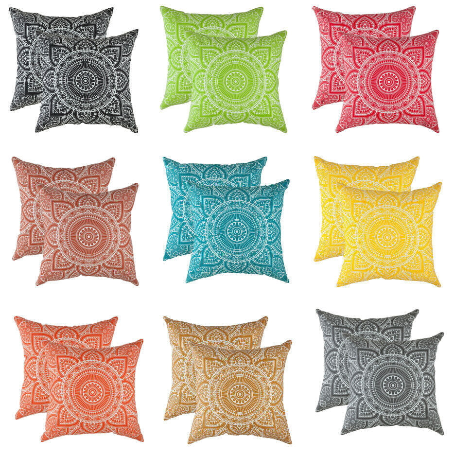 TreeWool,  Throw Pillow Cushion Covers in Cotton Canvas Mand