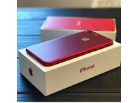 APPLE IPHONE 7 128GB RED EE VIRGIN TMOBILE ORANGE ASDA BRAND NEW COMES WITH APPLE WARRANTY & RECEIPT