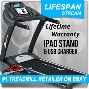 LIFESPAN NEW 6.5HP ELECTRIC GYM TREADMILL 22KM/H 20INCL