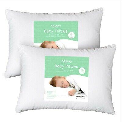 Baby Toddler Pillow Set,Organic Toddler Bedding Small Pillow-100% Natural Cotton