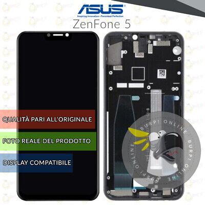 DISPLAY ASUS ZENFONE 5 / 5Z ZE620KL X00QD ZS620KL SCHERMO FRAME NERO...