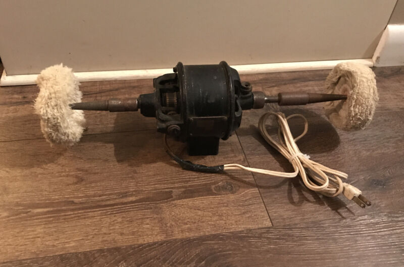 Antique Westinghouse 178613 AC DC Electric Motor RUNS Jewelry Buffer Polisher