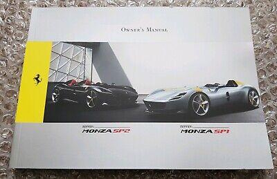 Ferrari Monza SP1/SP2 Owner's Manual