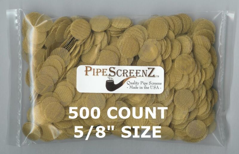 """500+ Count 5/8"""" .625"""" 15.833mm BRASS Pipe Screens HIGHEST QUALITY - MADE IN USA!"""