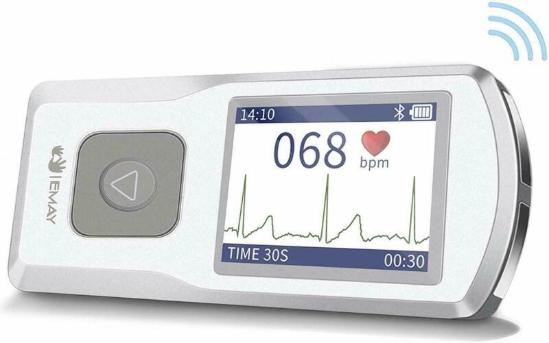 EMAY Bluetooth Portable ECG/EKG Monitor For iPhone & Android mac & Windows EMG20