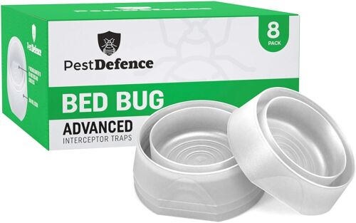 Pest Defence Bed Bug Interceptors - 8 Pack Bed Bug Advanced Traps ~Free Shipping