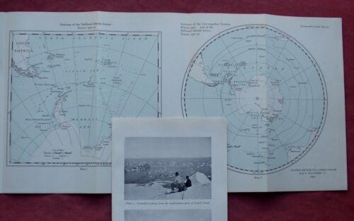 1931 - ANTARCTIC - RRS DISCOVERY II SOUTH POLE POLAR EXPLORATION MARITIME + MAP