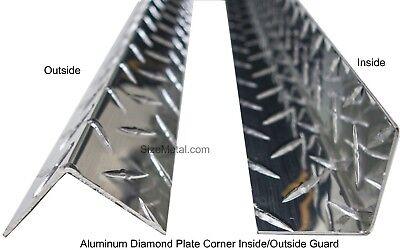 2 Pcs - 0.063 7ft Aluminum Diamond Plate Outside Corner Guard - 3x3x84