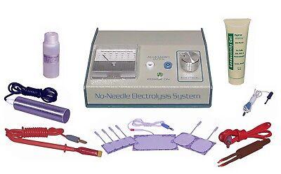 Transdermal electrolysis system permanent hair removal machine + no needle kit.