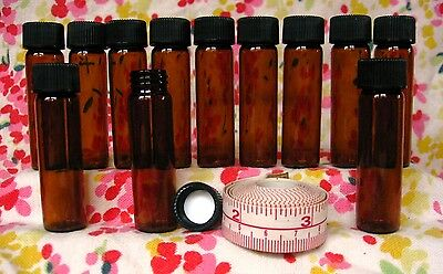 Lot(20 Pc) Glass Vials Bottles 2 Drams 1/4 Oz Amber Screw-cap Stash Jar, Potion